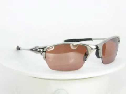 Oakley Sunglasses Polished Half X 04142 Polished VR28 Black Iridium.WMV