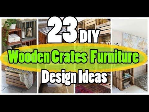 23 DIY Wooden Crates Furniture Design Ideas
