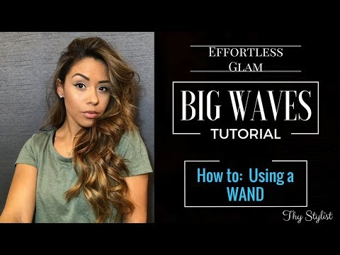 HOW TO: BIG WAVES USING A WAND | TUTORIAL | NUME WAND | THY STYLIST