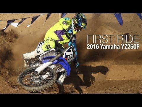 2016 Yamaha YZ250F First Ride - MotoUSA