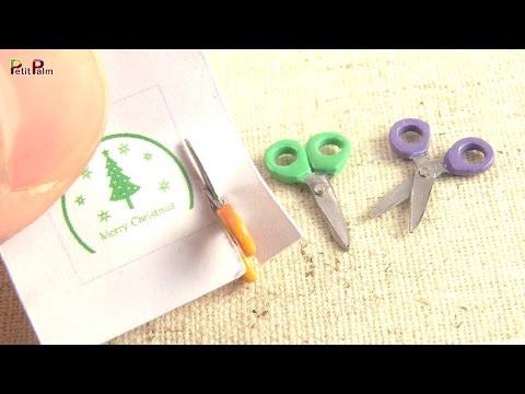 Miniature Scissors (Can actually cut paper) DIY - Petit Palm