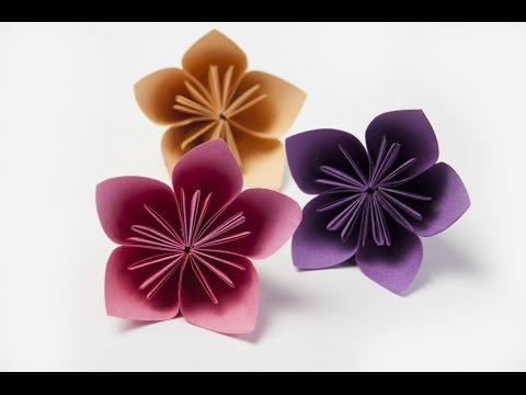 How to make a  Kusudama flower ( paper flowers )