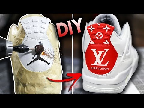 HOW TO: SAND AWAY YOUR JUMPMAN AND CUSTOMIZE A JORDAN BACK TAB | LOUIS VUITTON DESIGNER CUSTOM