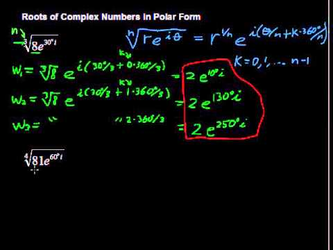 Roots of Complex Numbers in Polar Form