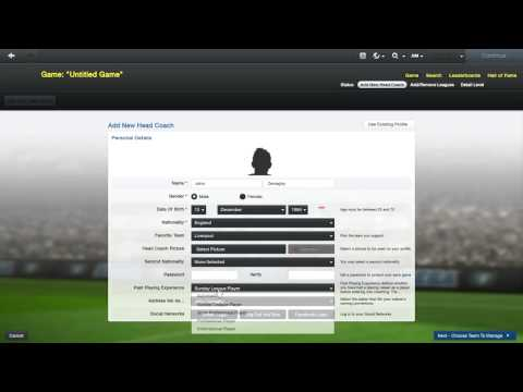 Football Manager 2013 Play as National manager tutorial
