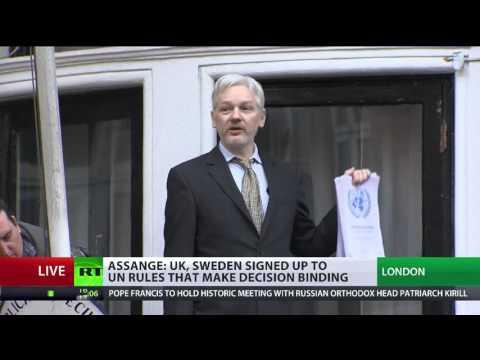'Sweden, UK lost'  Assange addresses supporters