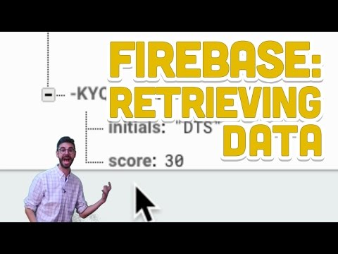 9.3: Firebase: Retrieving Data - Programming with Text
