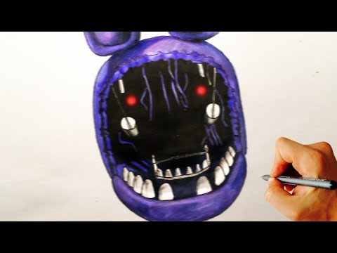 Xxx Mp4 How To Draw Withered Bonnie Jumpscare From Five Nights At Freddy 39 S FNAF Drawing Lesson 3gp Sex