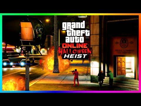 GTA 5 Online Custom Heists - THE HALLOWEEN BANK HEIST! (GTA 5 Custom Heist Missions) [GTA ONLINE]