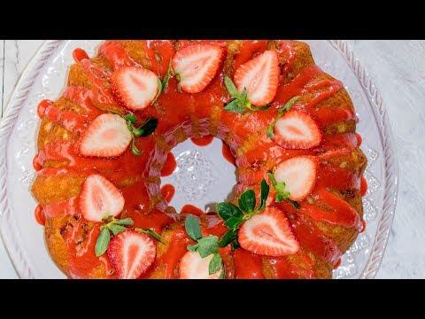 Strawberry Lemon Bundt Cake