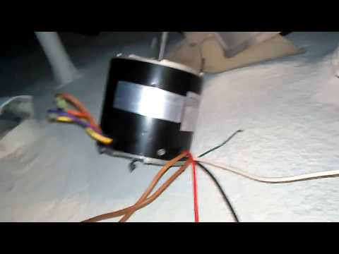 5 wire condenser fan motor to a 3 wire.
