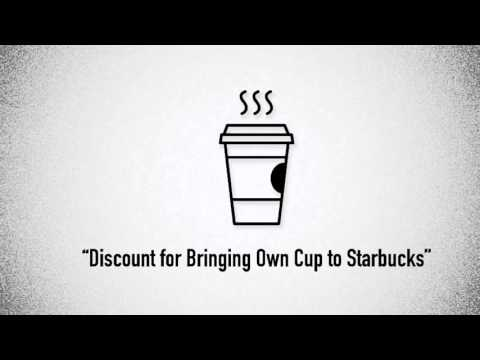 Storytelling the News - Discount for Bringing Own Cup to Starbucks