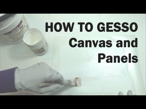 Oil Painting Workshop #7: How to Gesso Canvas or Panels–A Painting Supplies Demonstration