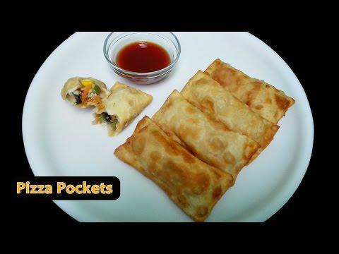 Pizza Pockets || Deep fried Pizza Pockets Recipe
