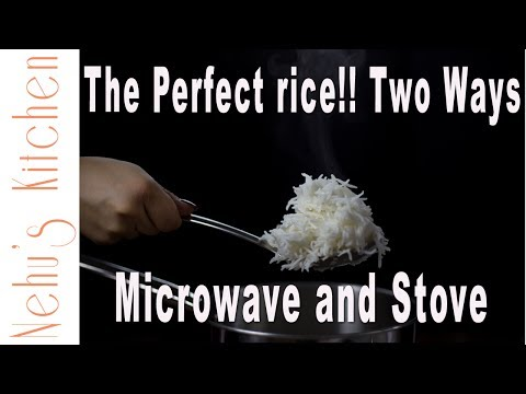 Boiled Rice 2 ways (MICROWAVE and STOVETOP) | Cook the PERFECT fluffy white rice without any oil