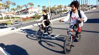 BMX STREET RIDING WITH MARK BURNETT AND LAHSAAN KOBZA
