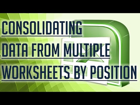 [Free Excel Tutorial] CONSOLIDATING DATA FROM MULTIPLE EXCEL WORKSHEETS BY POSITION - Full HD
