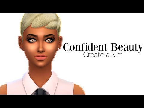 The Sims 4: CONFIDENT BEAUTY! | Create a Sim