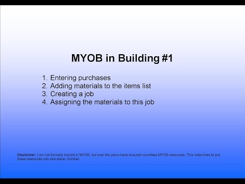 1.MYOB Data Entry for Purchases