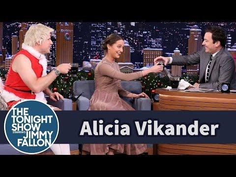 Alicia Vikander Shares Swedish Glogg with Will Ferrell and Jimmy
