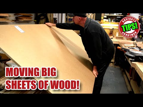 Moving BIG SHEETS of MDF, Plywood etc. - GHTL#15 [100]