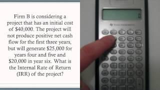 Calculating Irr Using Ba Ii Plus