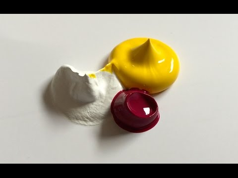 Acrylic Paint Colour Mixing - #7 (PEACH)
