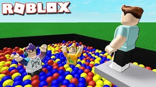 JUMP IN THE BALL PIT IN ROBLOX!