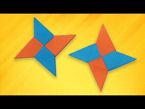 Kids easy origami - How To Make a Paper Ninja Star (Shuriken)