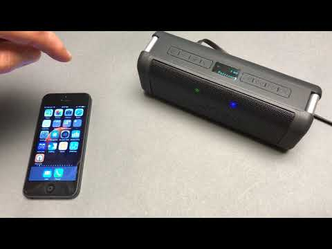 Ivation Portable Waterproof Bluetooth Speaker unboxing and testing (4K)