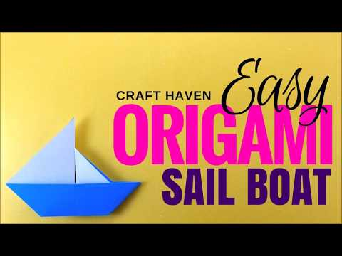 Easy Origami Sail Boat - Simple Origami Paper Boat  - Origami Instructions for Beginners - DIY Boat