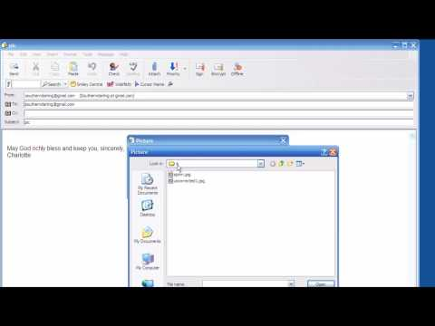 Inserting Images and Photos into outlook express email and attaching images and photos