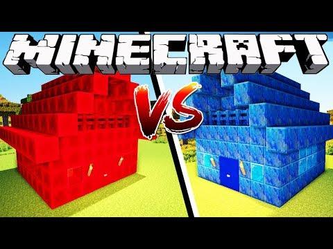 REDSTONE HOUSE VS LAPIS HOUSE - Minecraft