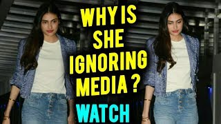 Suniel Shetty Daughter Athiya Shetty ROYAL IGNORE To Media, Looks In A Bad Mood