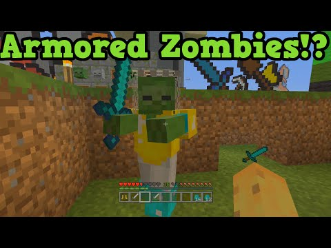 Minecraft Xbox + PS3 : Zombies With Armor & Weapons + Skeletons