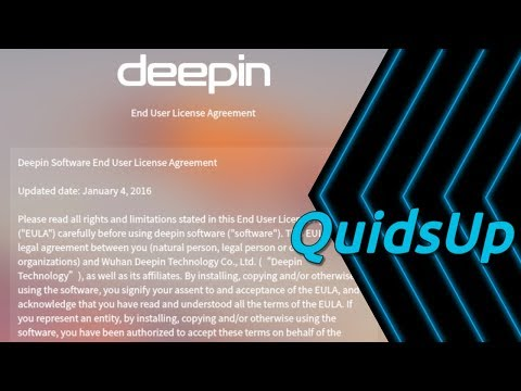 Looking at Linux Deepin EULA from v15.8