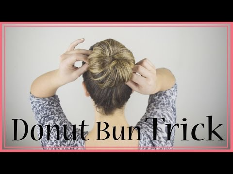 Must Watch! How to do a Donut Bun with long hair. No left over hair! Best trick ever!
