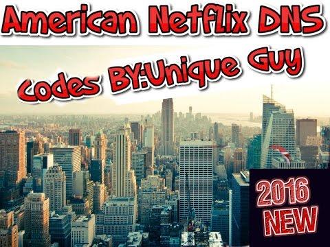American Netflix DNS CODES 2016 NEW!!