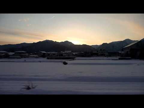 Train ride into Hakuba, Nagano Prefecture, Japan