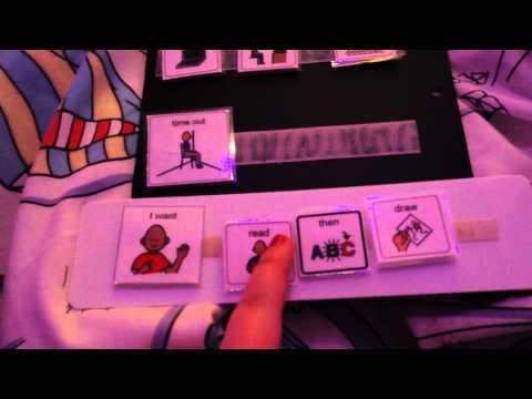 Pecs choice board autism