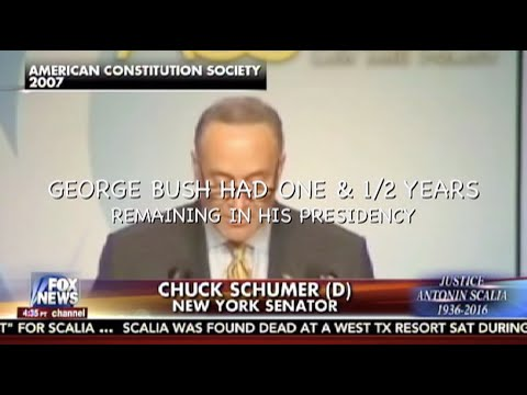 Schumer in 2007….No New Supreme Court Justice For Bush.