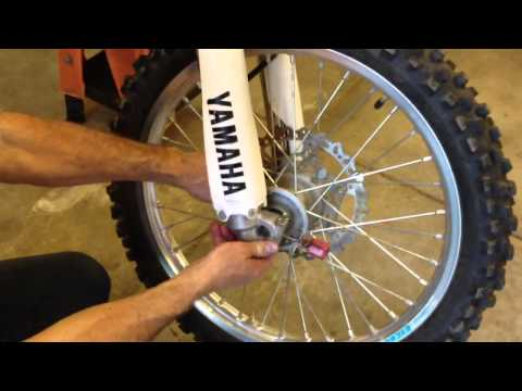 How to center dirtbike front axle - very important