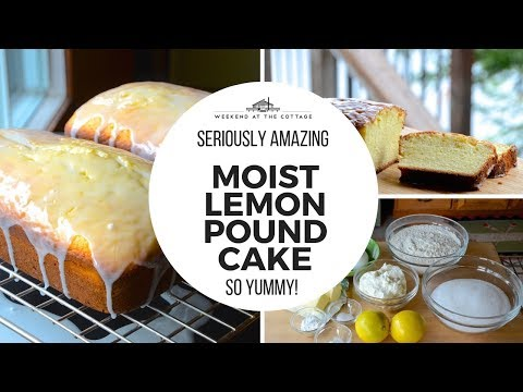 Tangy LEMON RICOTTA POUND CAKE!