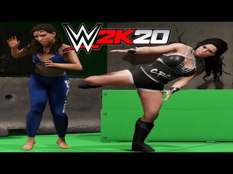 Gal Gadot v Gina Carano! - WWE 2K20 Movie Set Brawl