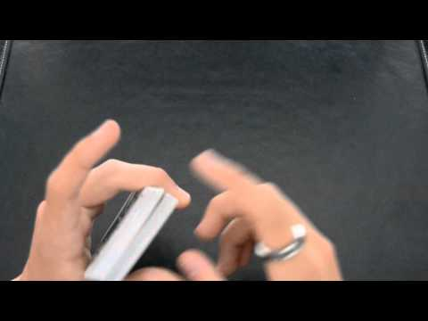 How to hold a good pinky and thumb break- essential card sleight tutorial HD
