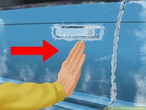 how to open frozen car doors or locked car door