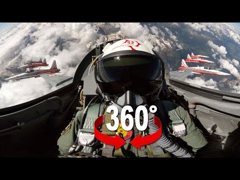 360° cockpit view | Fighter Jet | Patrouille Suisse | Virtual Reality