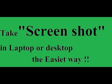 How to take a screen shot on a pc