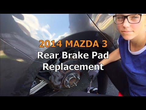 2014 Mazda 3 Rear Brake Pad Replacement