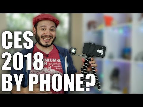 CES coverage with ONLY my phone? #CES2018 Vlog Day 0 - #MOJO